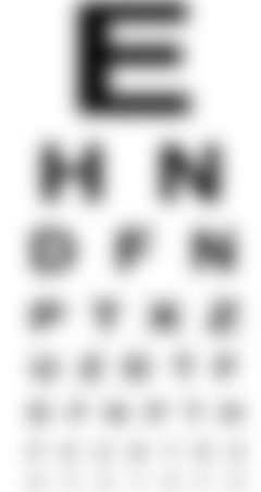 Very Blurry Snellen Chart