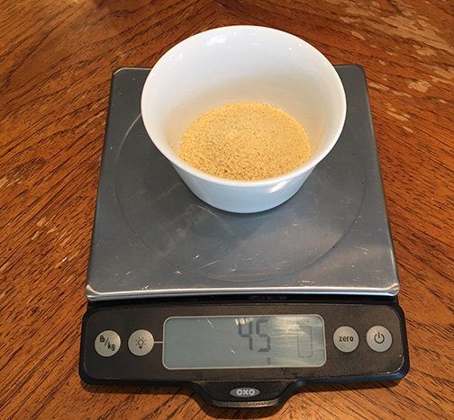 45 g of cous cous